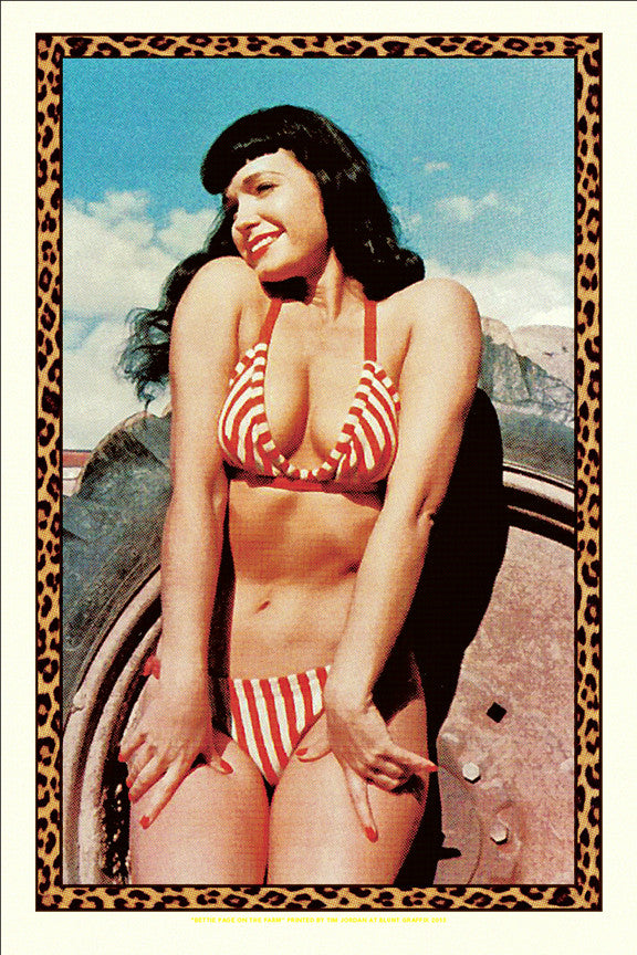 "Bettie: ""Bettie Page on the Farm"" Gold by Tim Jordan"