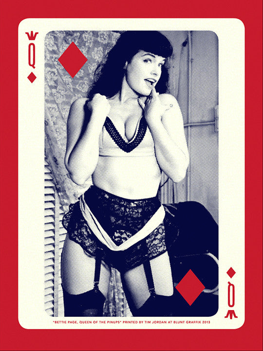 "Bettie: ""Bettie Page, Queen of Diamonds"" Gold by Tim Jordan"