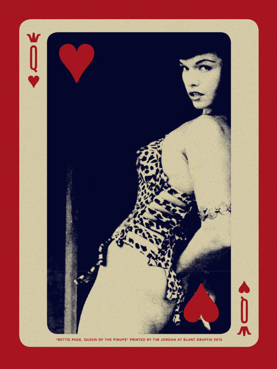 "Bettie: ""Bettie Page, Queen of Hearts"" Desert Storm by Tim Jordan - Hero Complex Gallery"