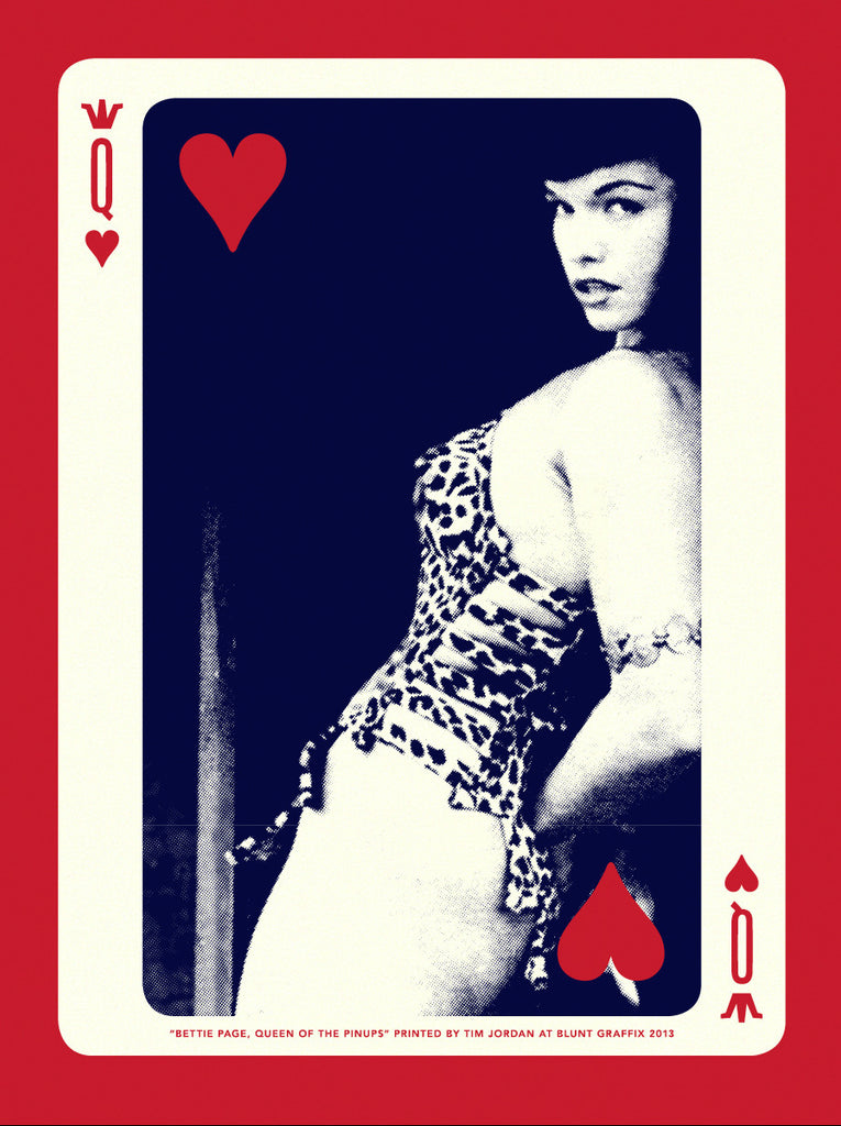 "Bettie: ""Bettie Page, Queen of Hearts"" Gold by Tim Jordan"