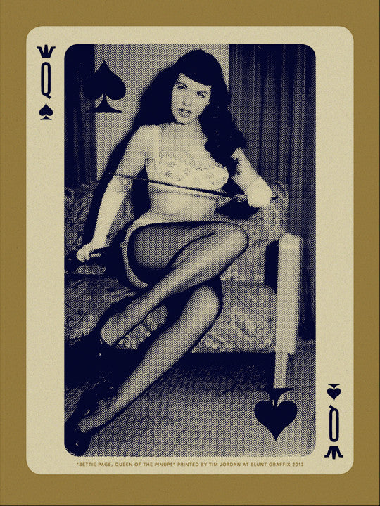 "Bettie: ""Bettie Page, Queen of Clubs"" Desert Storm by Tim Jordan - Hero Complex Gallery"