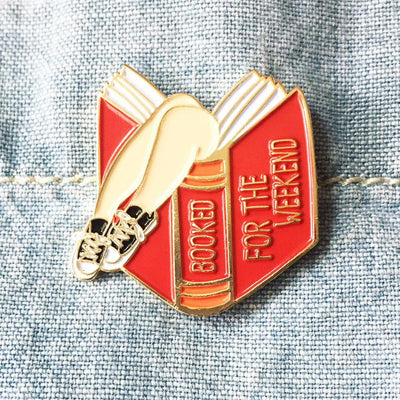 "098. ""Booked for the Weekend - Red Book"" Pin by ilootpaperie"
