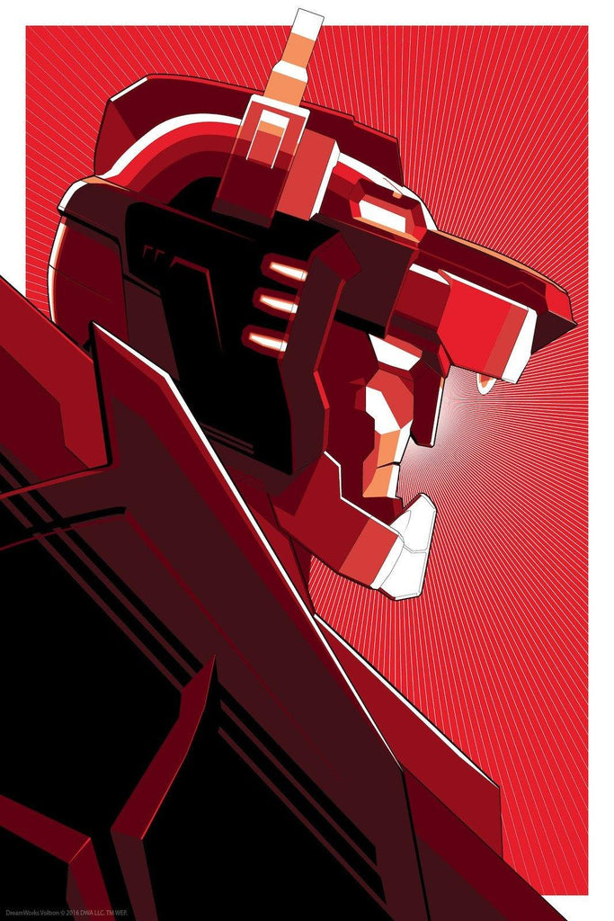"""Red Voltron"" Foil Variant by Craig Drake - Hero Complex Gallery"