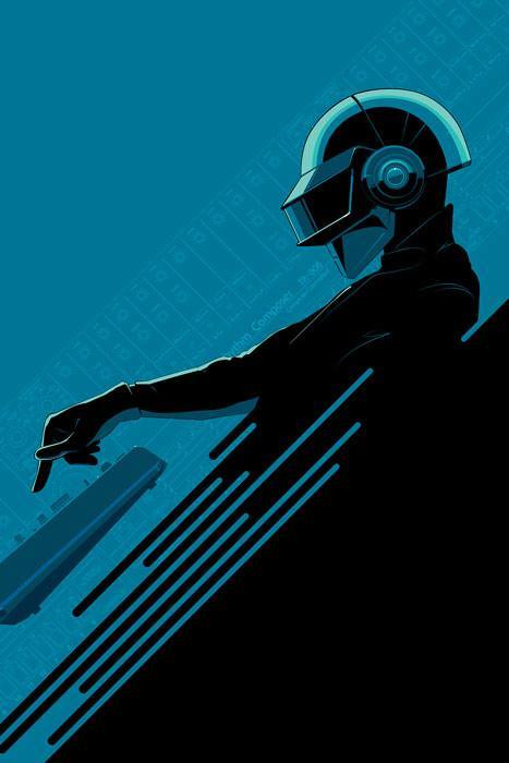 32 - Daft Punk Blue by Drake - Hero Complex Gallery