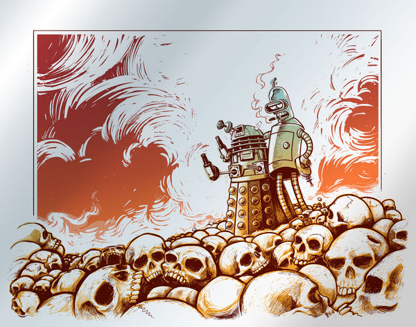 """Exterminate All Humans!"" The Second Apocalyptic Variant Edition by Eric Michael Hancock - Hero Complex Gallery"