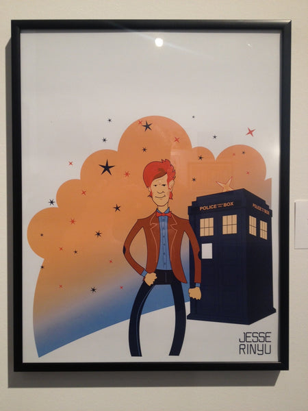 """Dr. Who"" Framed by Jesse Rinyu - Hero Complex Gallery"