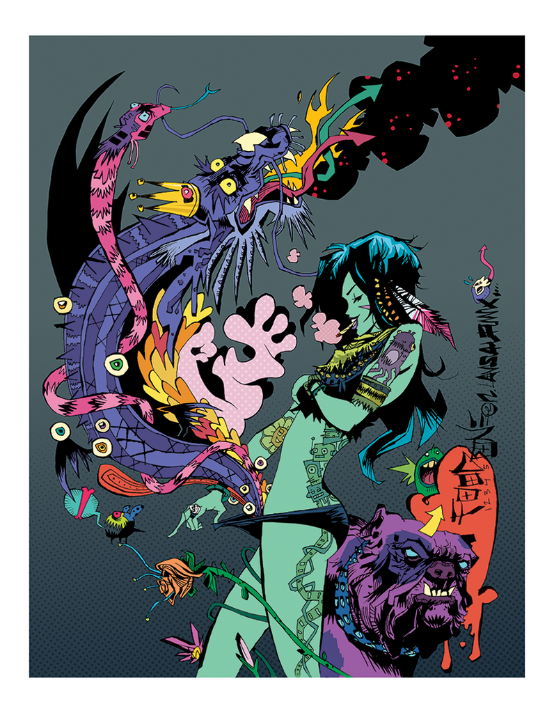 """Magive Five"" by Jim Mahfood - Hero Complex Gallery  - 1"