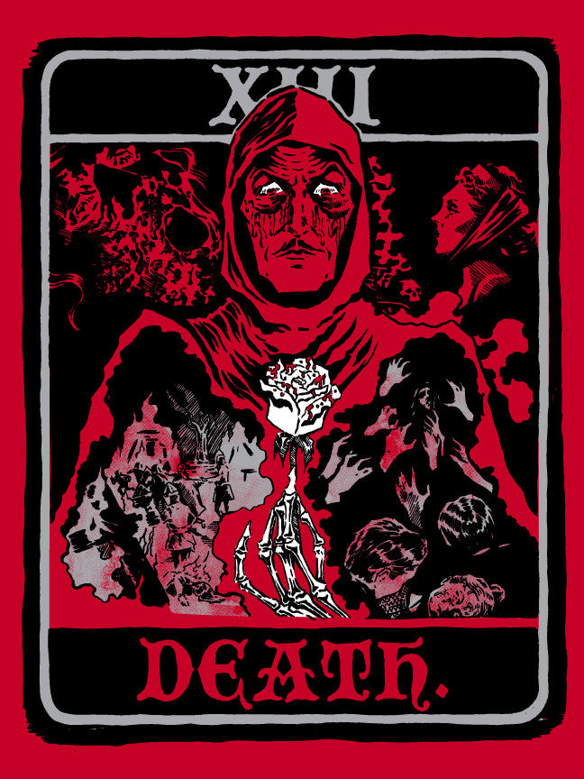 """Tarot of the Red Death"" by M. Fersner $15.00 - Hero Complex Gallery"