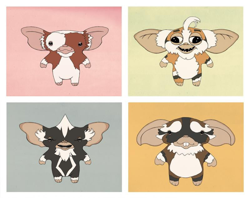 """Mogwai Four Pack"" by Isaac Bidwell - Hero Complex Gallery"