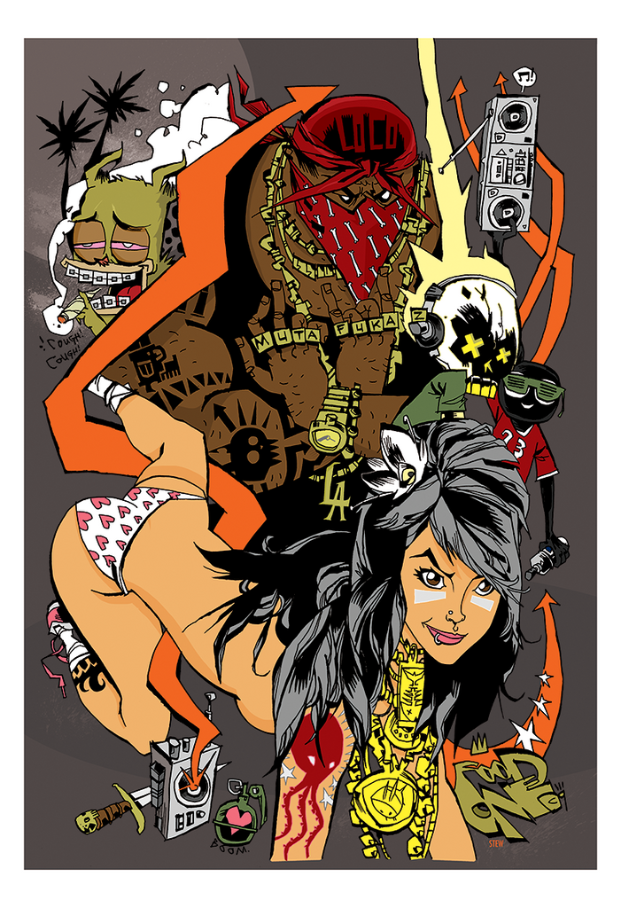 """Mutafuckaz"" Framed by Jim Mahfood"