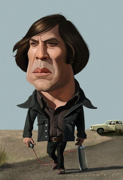 """A Little Chigurh"" by Mark Hammermeister - Hero Complex Gallery"