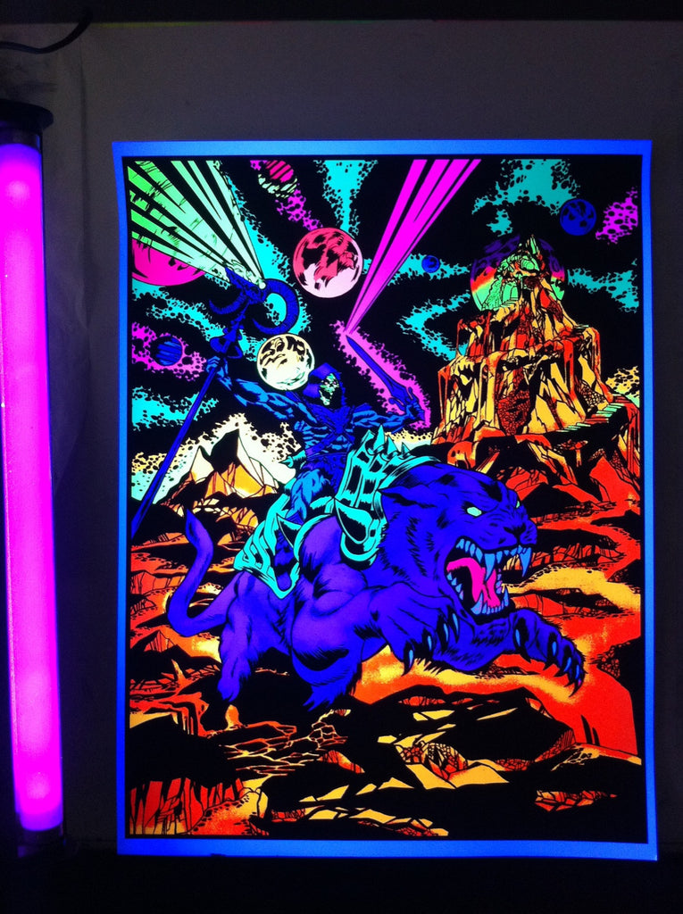 """Skeletor and Panthor"" Acrylic Painting by Brian Crabaugh $700.00 - SOLD OUT! - Hero Complex Gallery  - 1"