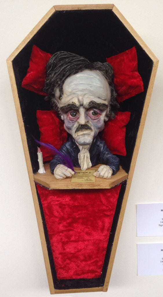 """Poe"" by M.W. Gaiss $300.00 - SOLD OUT - Hero Complex Gallery  - 1"