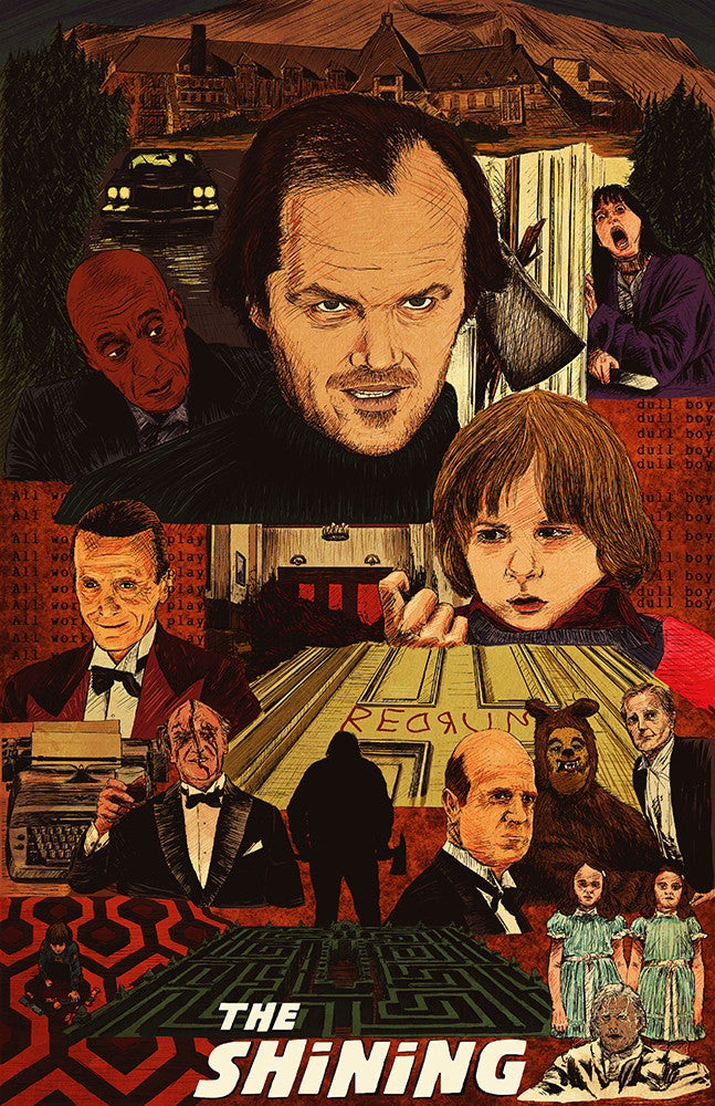 """The Shining Movie Poster"" LARGE by Michael DeNicola - Hero Complex Gallery"