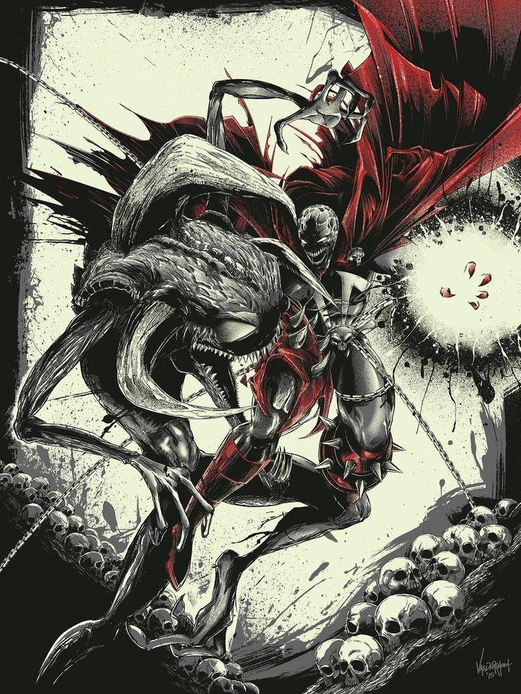 """Spawn vs Violator"" AP by JP Valderrama - Fresh Doodle - Hero Complex Gallery  - 2"
