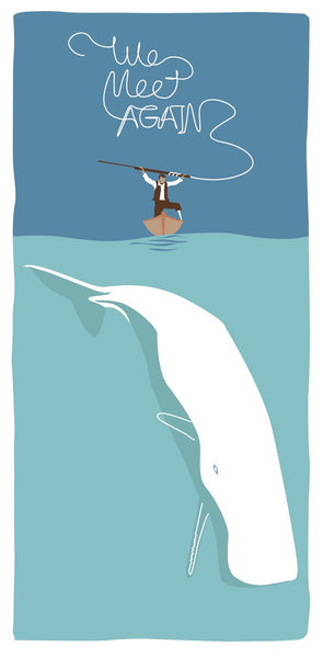 """Nemesis Triptych"" Moby Dick by Steve Thomas $35.00 - Hero Complex Gallery  - 1"