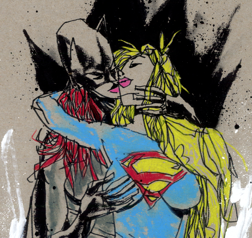"""Super Sapphic Erotic"" Framed by Jim Mahfood - Hero Complex Gallery  - 2"