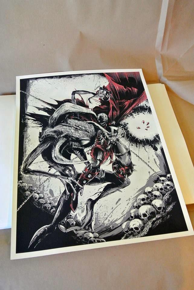 """Spawn vs Violator"" AP by JP Valderrama - Fresh Doodle - Hero Complex Gallery  - 4"