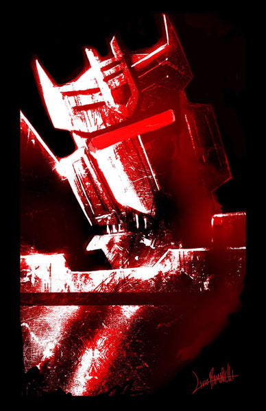 """Soundwave Red"" Framed - by Livio Ramondelli $85.00 - SOLD OUT - Hero Complex Gallery"