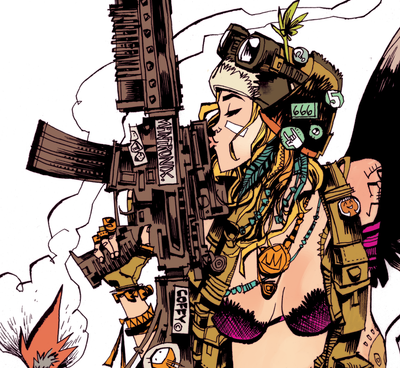 """Tank Girl Cover"" Framed by Jim Mahfood - Hero Complex Gallery  - 2"