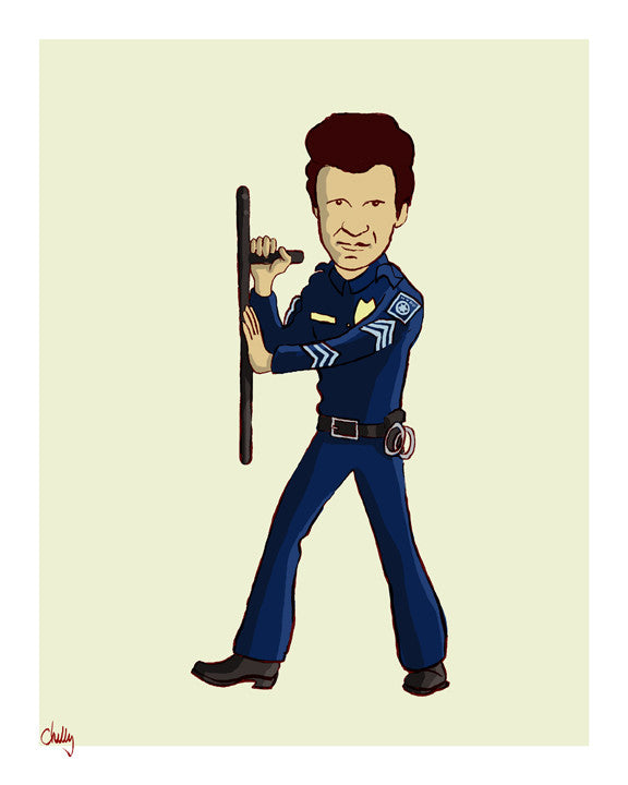 """The Good Guys: T. J. Hooker"" by Mark Chilcott - Hero Complex Gallery"
