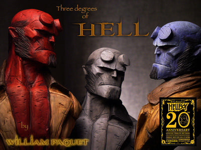 """Hellboy Grey"" by William Paquet $450.00 - SOLD OUT - Hero Complex Gallery  - 2"