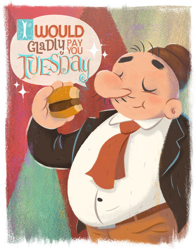 """For a Hamburger Today"" by JJ Harrison - Hero Complex Gallery  - 2"