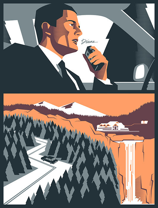 """Twin Peaks 'Diane'"" Variant by Edward Tuckwell $60.00 - Hero Complex Gallery"