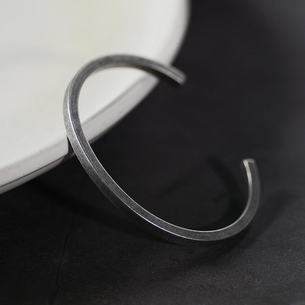 """Sigvard"" Silver Bangle"