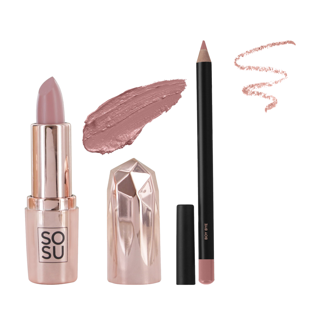 SOSU by SJ Lipstick & Lip Liner Bundle - Boy Bye