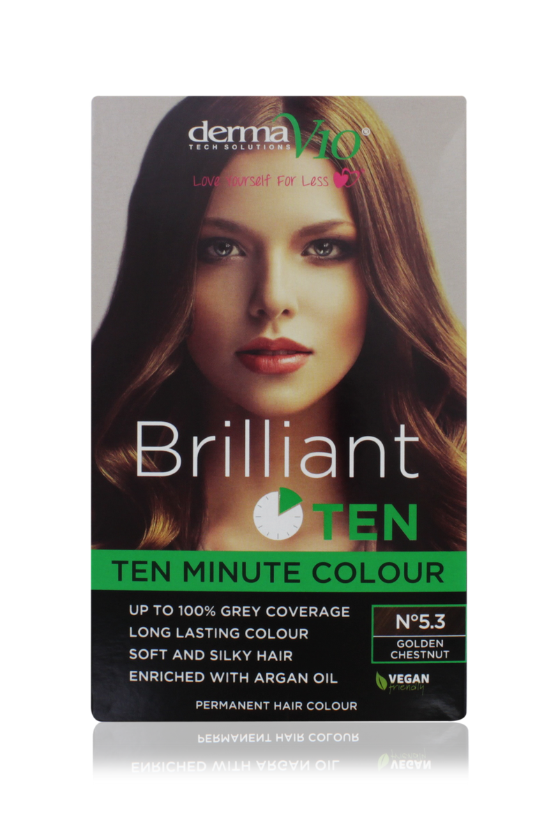 DERMA V10 Brilliant Ten Colour No. 5.3 Golden Chestnut