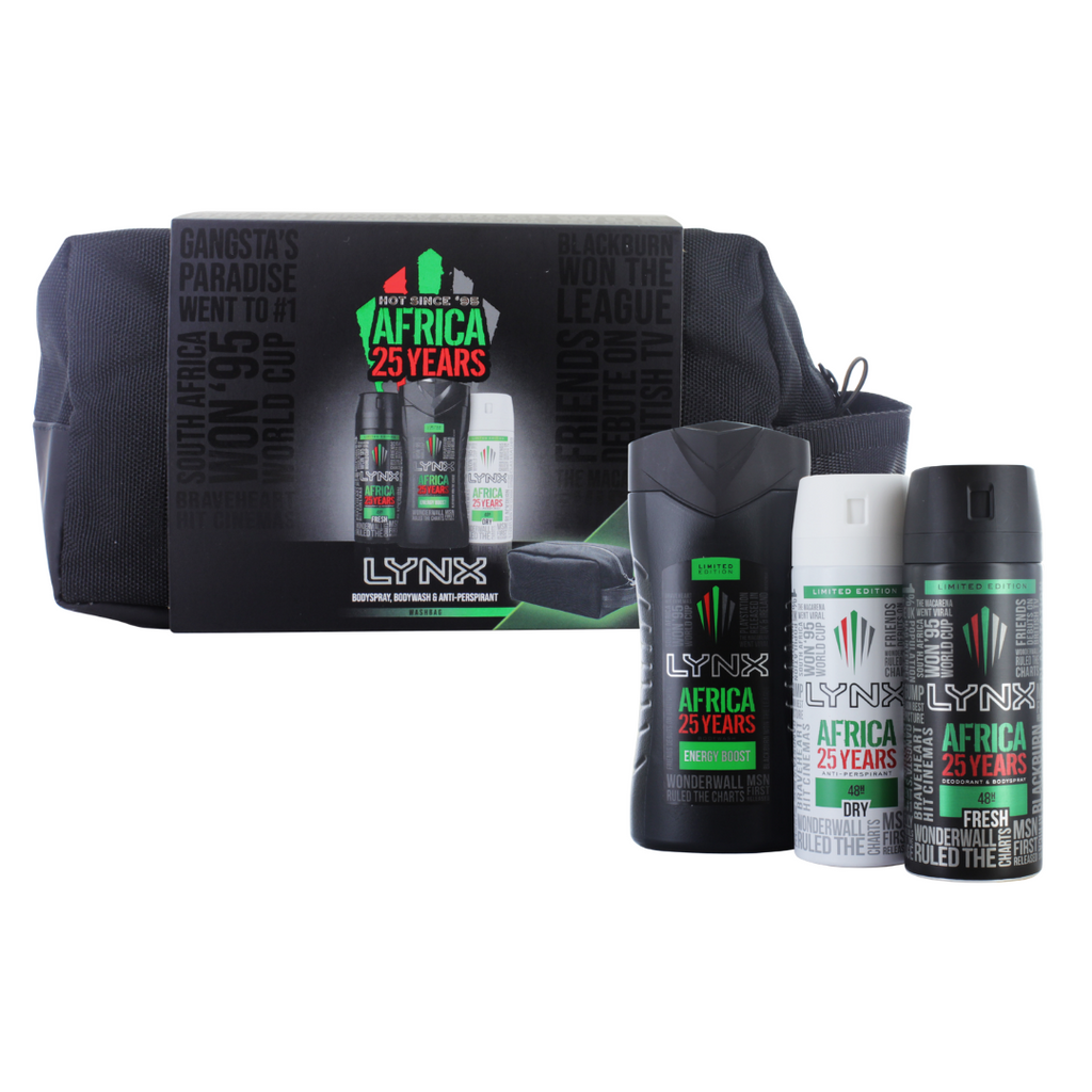 LYNX Africa 25 Years Wash Bag Gift Set