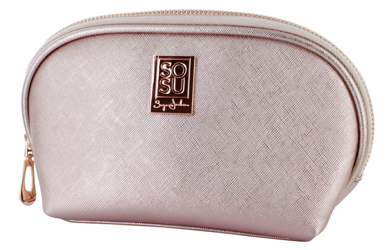 SOSU by SJ Rose Gold Cosmetic Bag
