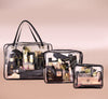 Dripping Gold Three Piece Travel Bag Set