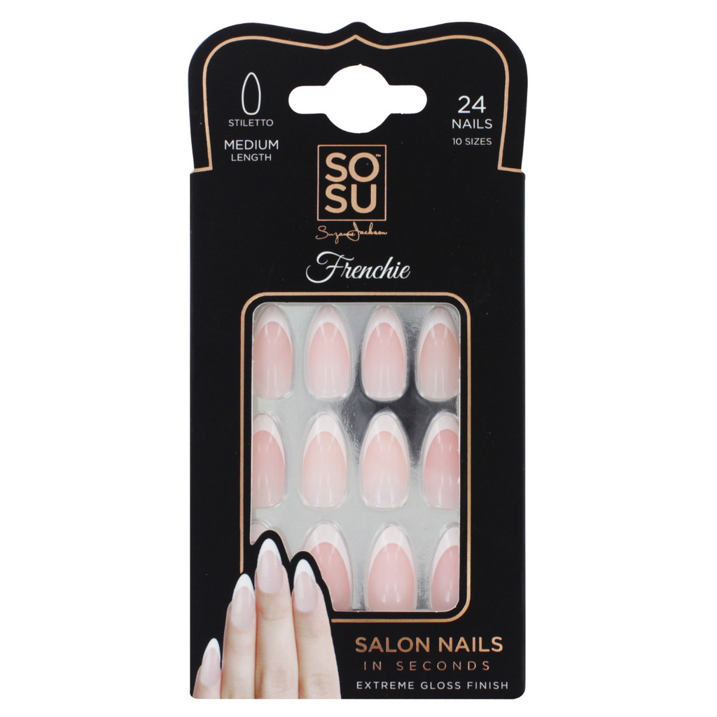 SOSU by SJ Frenchie Stiletto Nails