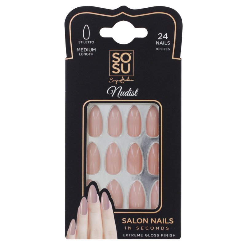 SOSU by SJ Nudist Stiletto Nails