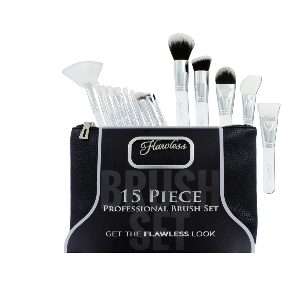 Flawless 15 Piece Full Face Professional Brush Set