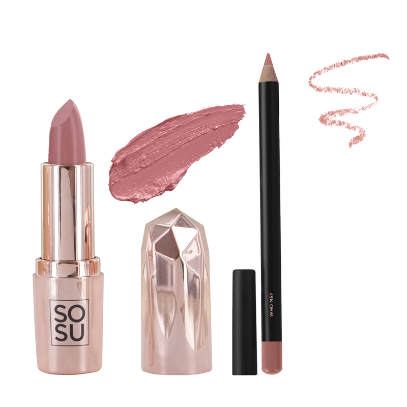 SOSU by SJ Lipstick & Lip Liner Bundle - Who Me