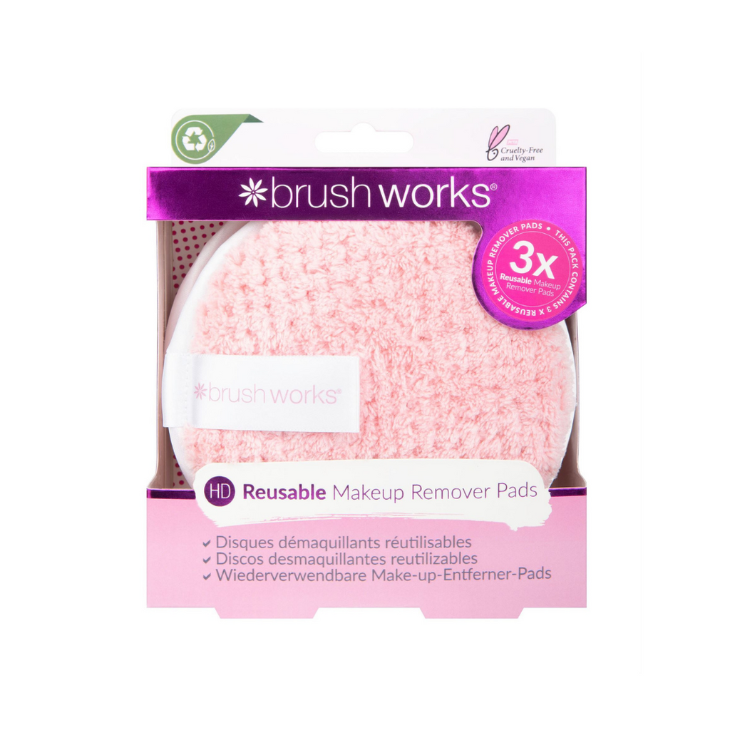 Brush Works Reusable Makeup Remover Pads 3 Pack