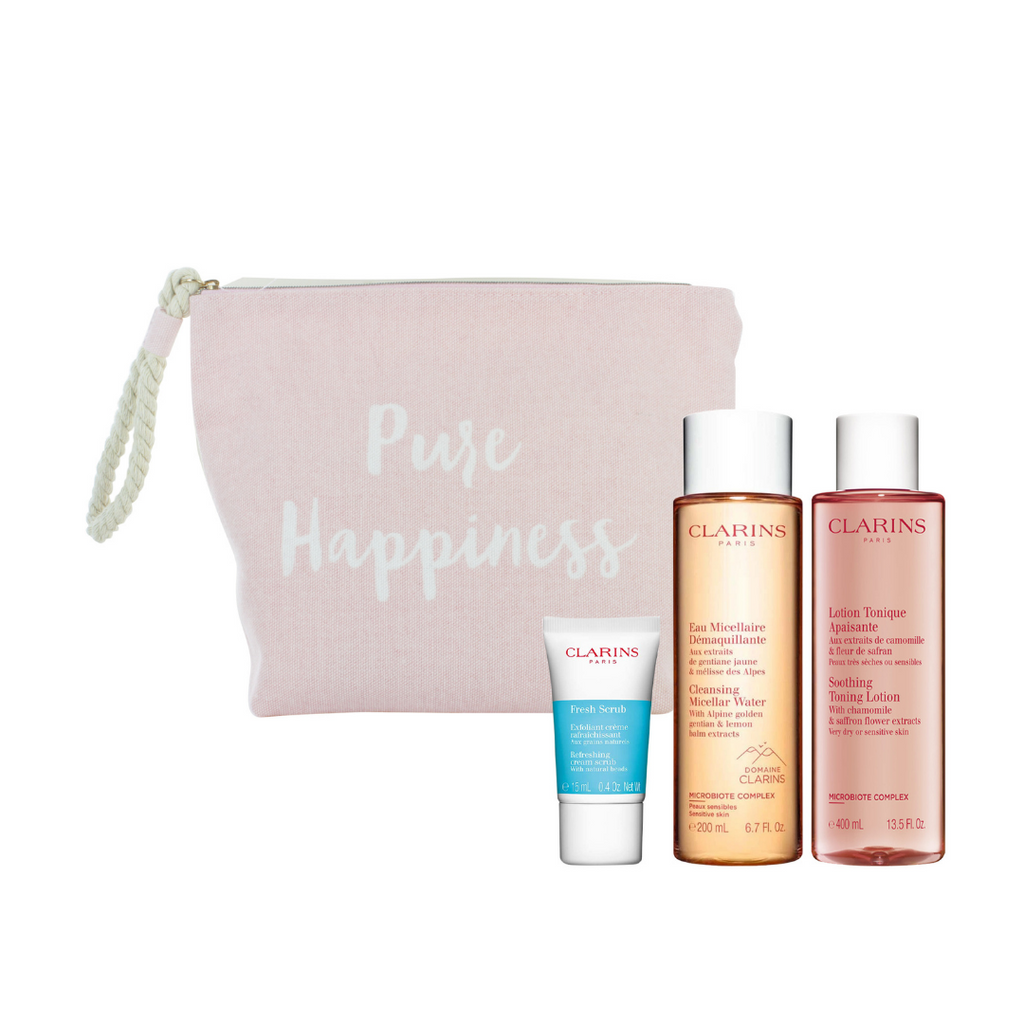 Clarins Pure Happiness Perfect Cleansing Gift Bag Set