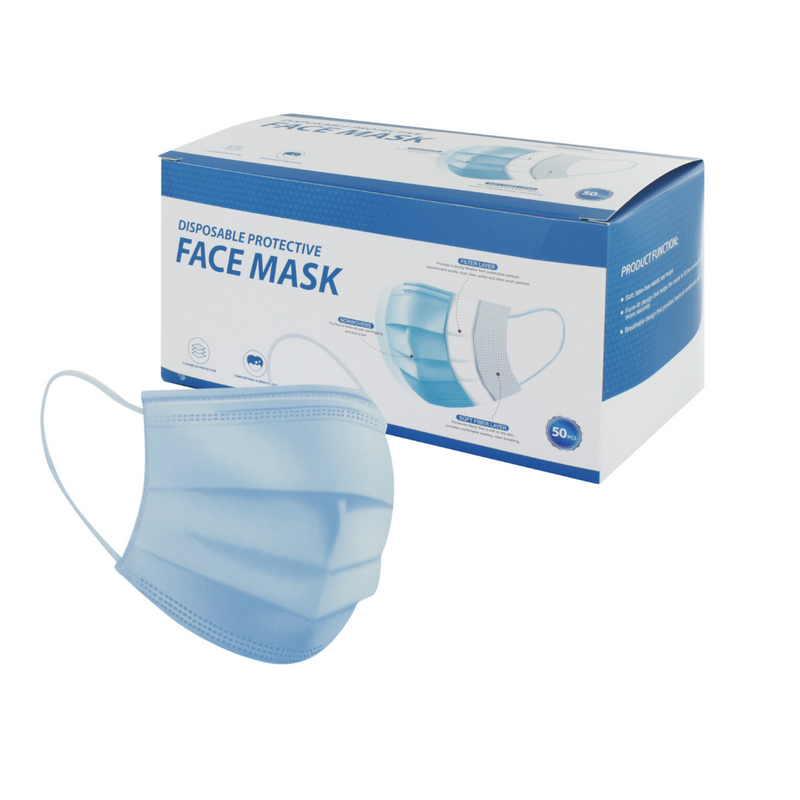 Disposable Protective Face Masks 50 Piece