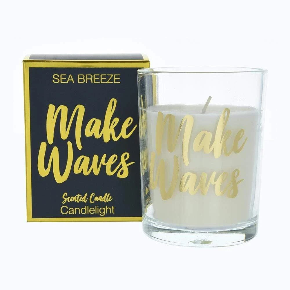 Candlelight Make Waves Candle - Sea Breeze Scent
