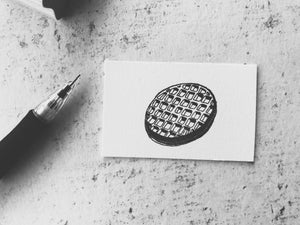 The Eleven's Waffle Stamp - El  Eggo -y Rubber Stamp - Geekery / Geek Gift