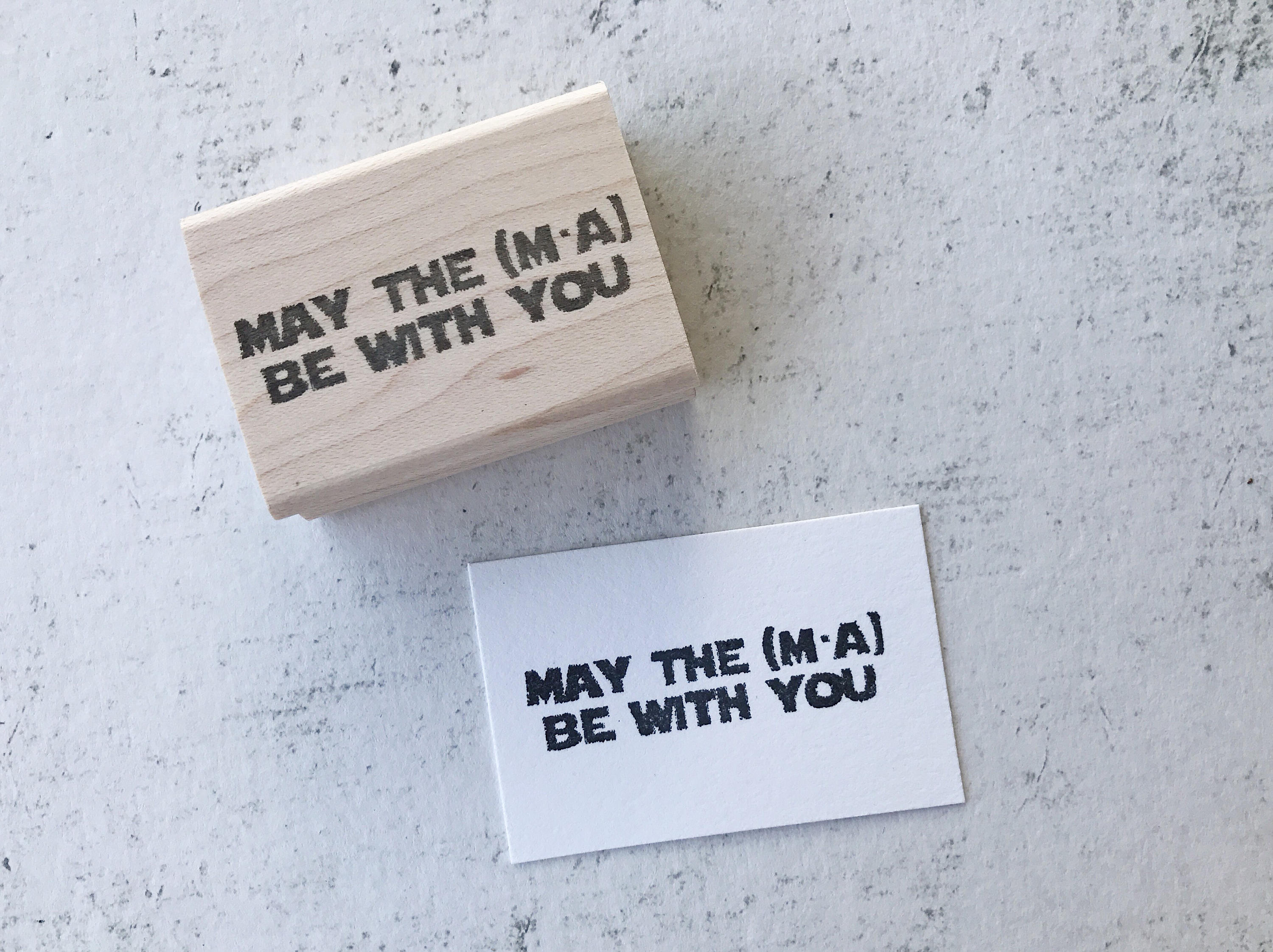May The Force- Physics Stamp - Sci-Fi Physics and Math Stamp - Inspirational Teacher's Grading Stamp