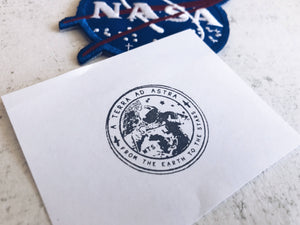 The Astronaut / Cosmonaut Seal Stamp - Vintage Space Stamp - Postal Stamp - Astronomy Rubber Stamp