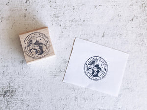 The Astronaut / Cosmonaut Seal Stamp - Space Faux Postage Seal Rubber Stamp - Sci- Fi Pen Pal Stationary - Astronomy Stamp