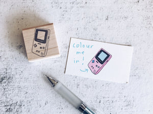 The I Wish I Still Had My GBC Stamp - Retro Rubber Stamp - Pen Pal Stationary Stamp