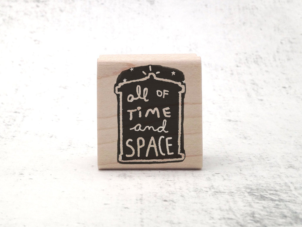 The Time and Space Stamp - Whovian Rubber Stamp - Police Box Geek Gift Stamp