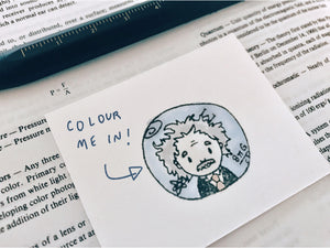 The Chibi Einstein Curiosity Stamp - Albert Einstein Science Rubber Stamp - Teacher Stamp - Physics and Math Stationary