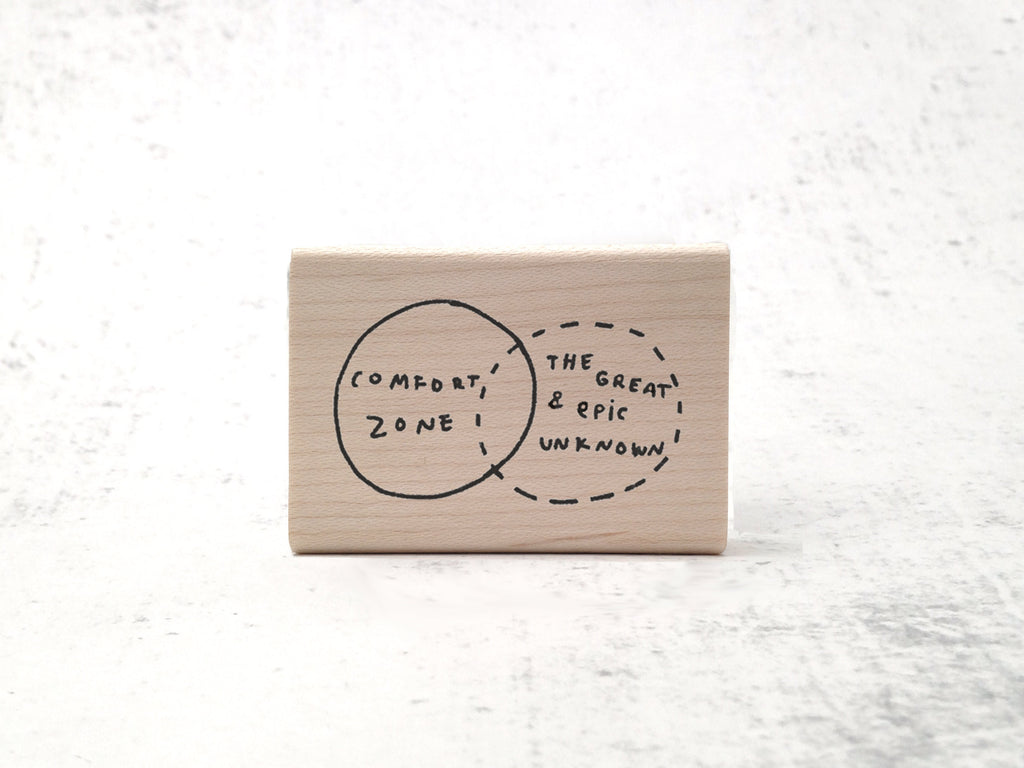 The Unknown Diagram Stamp -  Motivational Rubber Stamp - Teacher Stamp - Inspiring quote stamp